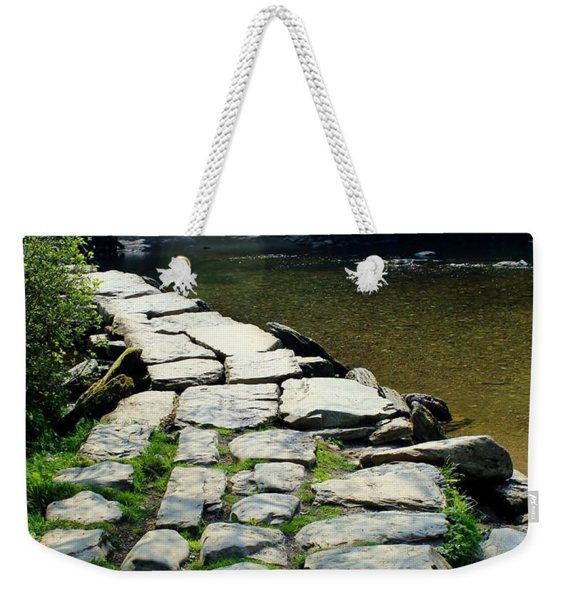 Foot Bridge Weekender Tote Bag featuring the photograph Exmoor National Park Crossing Bridge by Rene Triay Photography
