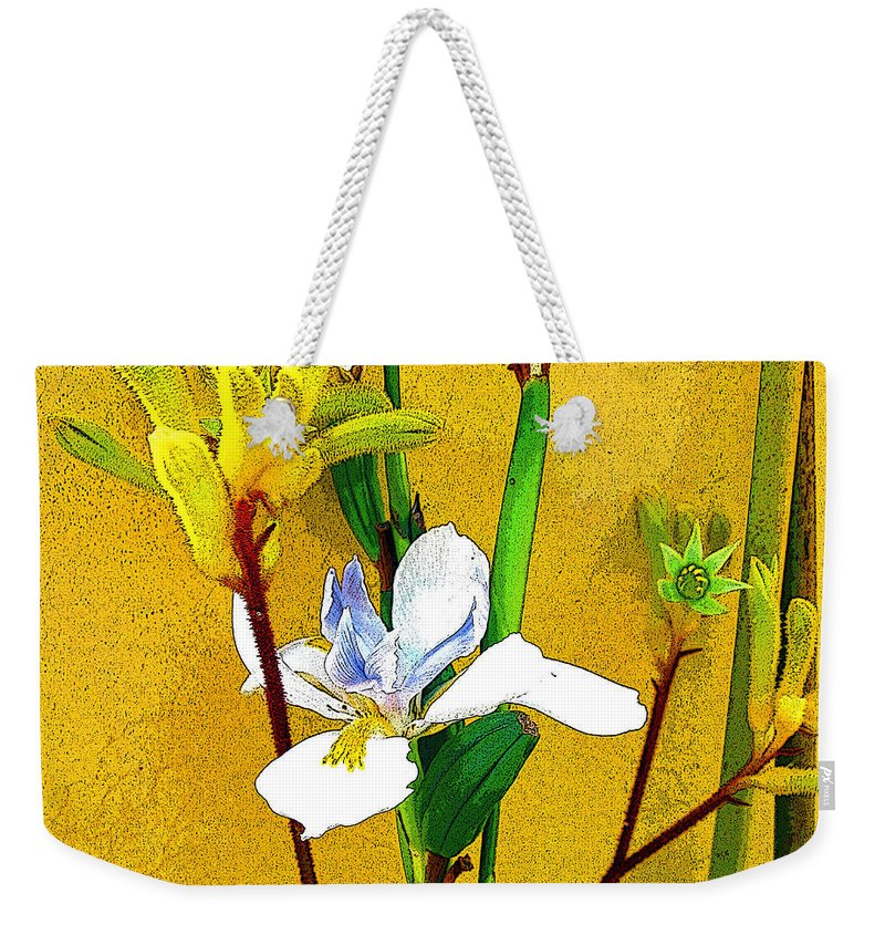 Flowers Weekender Tote Bag featuring the photograph Exotic Flowers by Jerome Stumphauzer