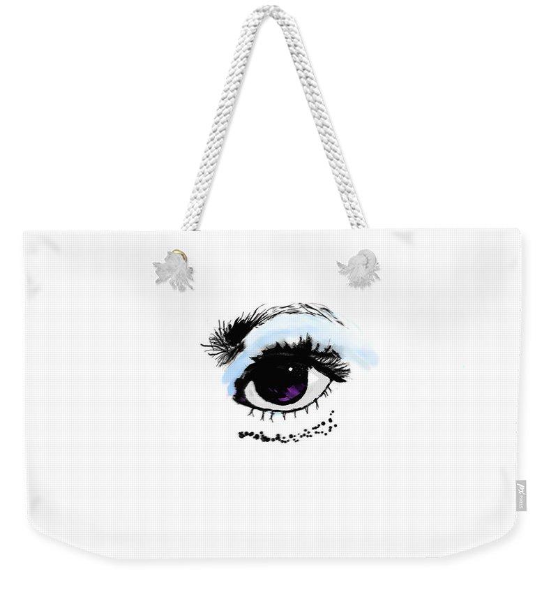 Eye Weekender Tote Bag featuring the digital art EYE by Eric Weeber