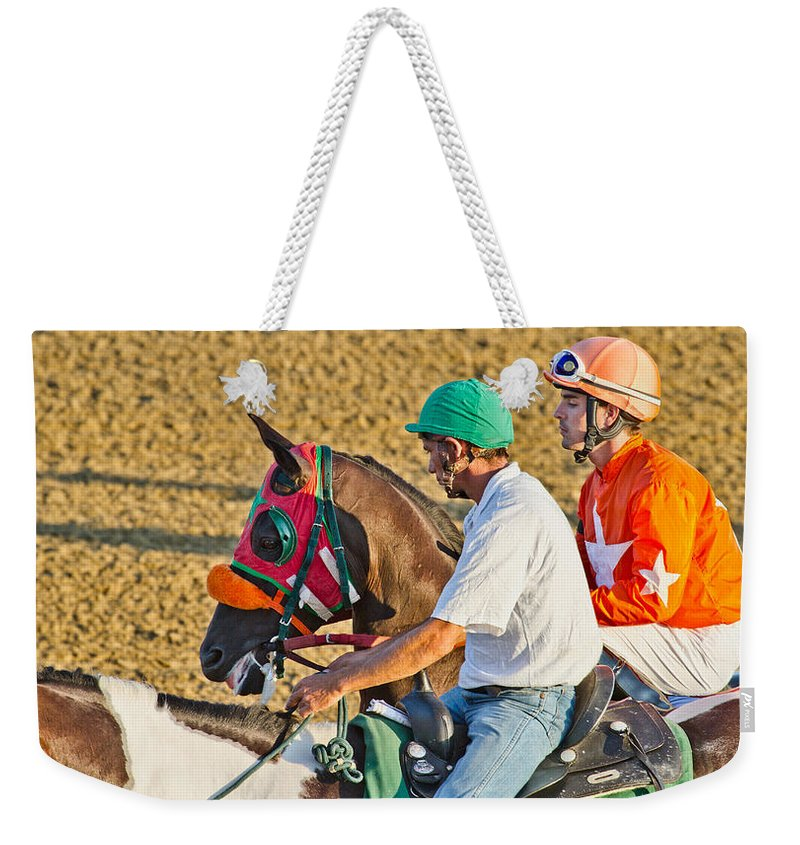 Horse Weekender Tote Bag featuring the photograph Eye On The Athlete by Betsy Knapp