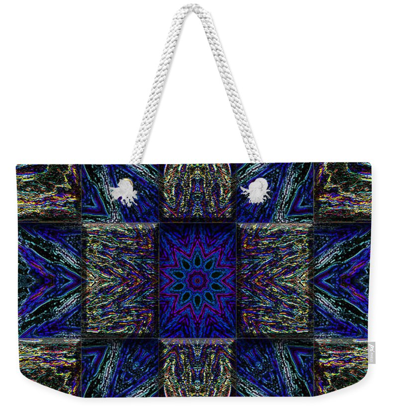 Abstract Weekender Tote Bag featuring the digital art Eyes Of The Night by Mark Sellers