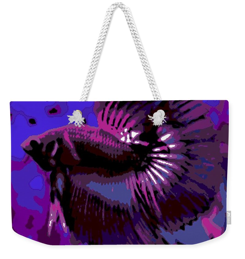 Betta Weekender Tote Bag featuring the photograph Fabulous Fins by George Pedro