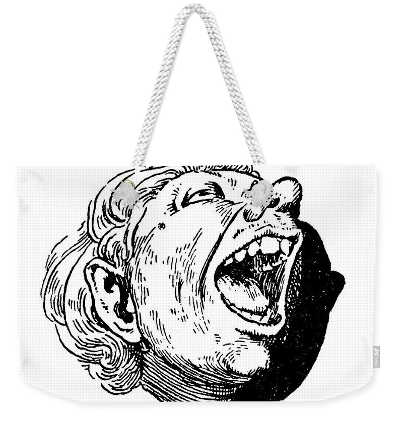 19th Century Weekender Tote Bag featuring the photograph Face, 19th Century by Granger