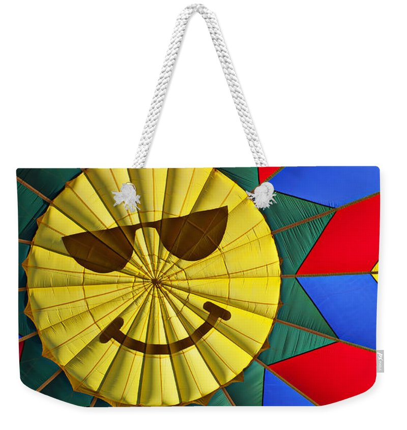 Face Weekender Tote Bag featuring the photograph Face Inside Hot Air Balloon by Garry Gay