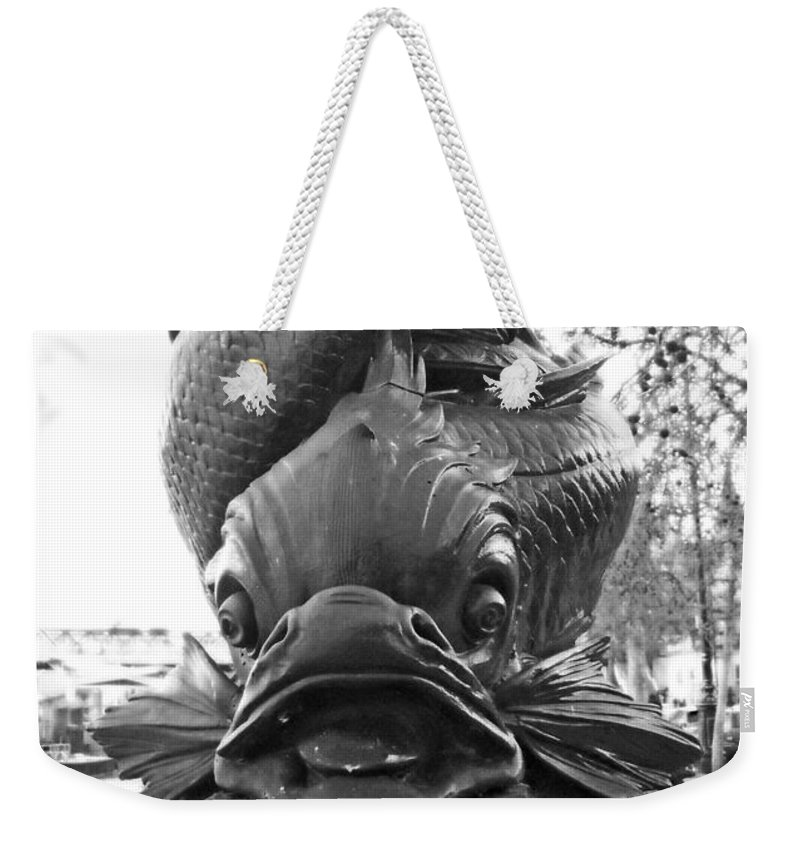 Fish Weekender Tote Bag featuring the photograph Face Of The Thames by Julia Raddatz