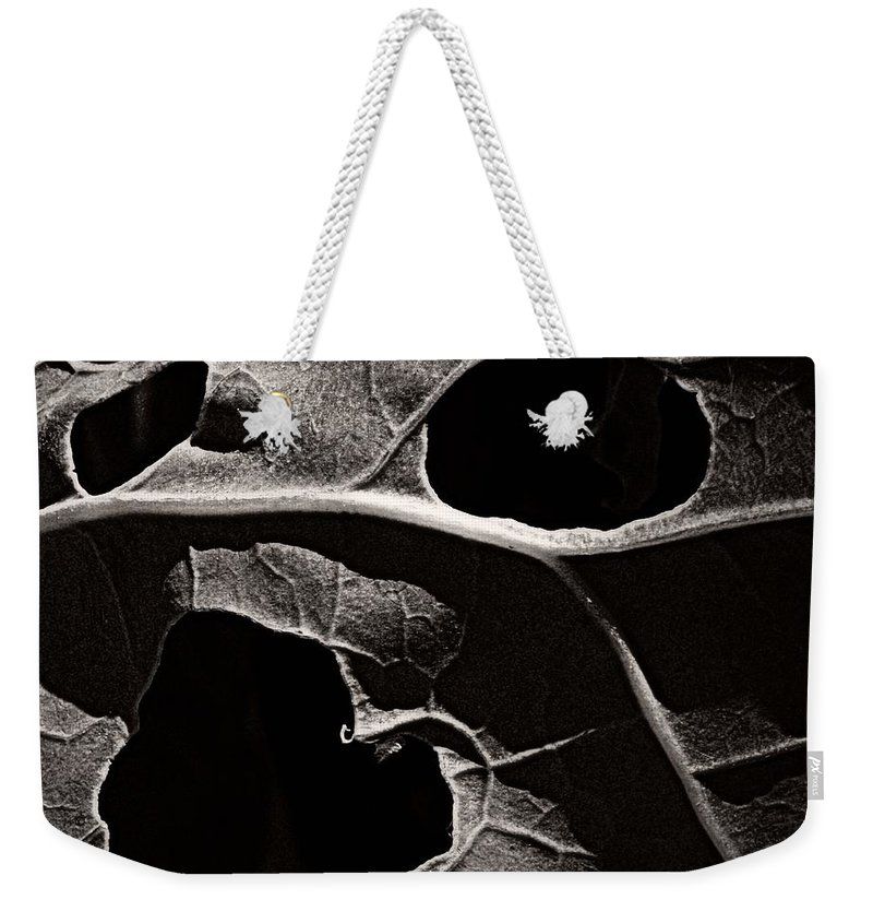 Nature Weekender Tote Bag featuring the photograph Facial Foliage by Chris Berry