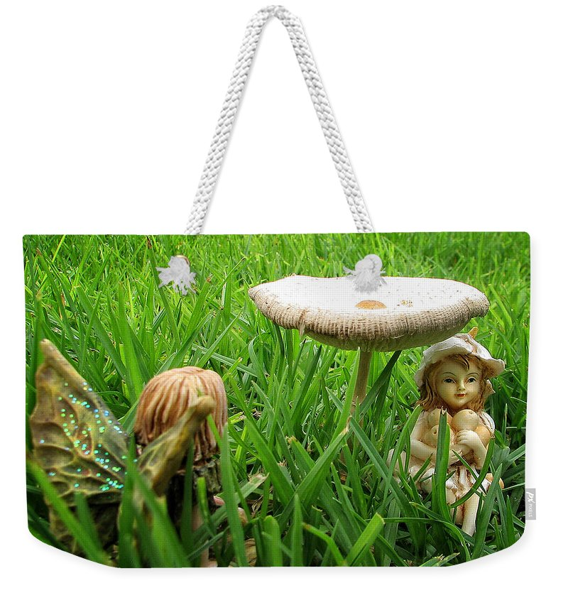 Fairy Weekender Tote Bag featuring the photograph Fairy Garden by Ronel Broderick