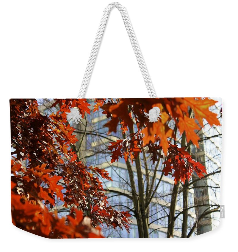 Vancouver Weekender Tote Bag featuring the photograph Fall In The City 1 by Alanna DPhoto