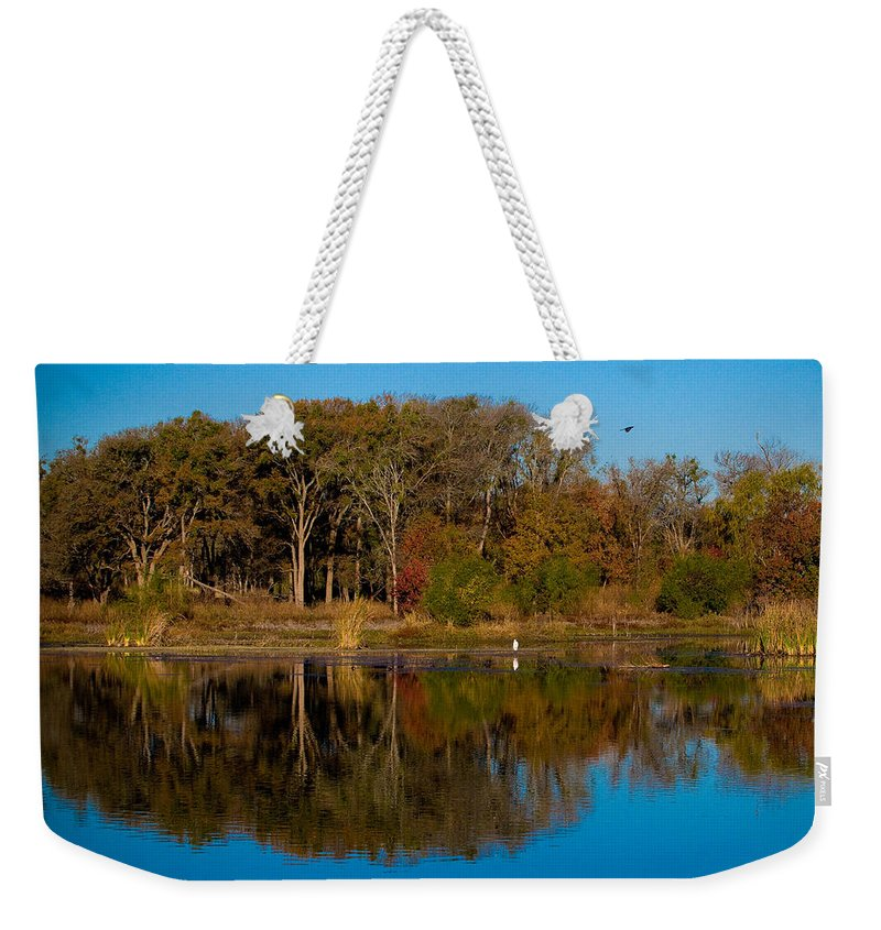 Fall Color Weekender Tote Bag featuring the photograph Fall Lake 4 by Sean Wray