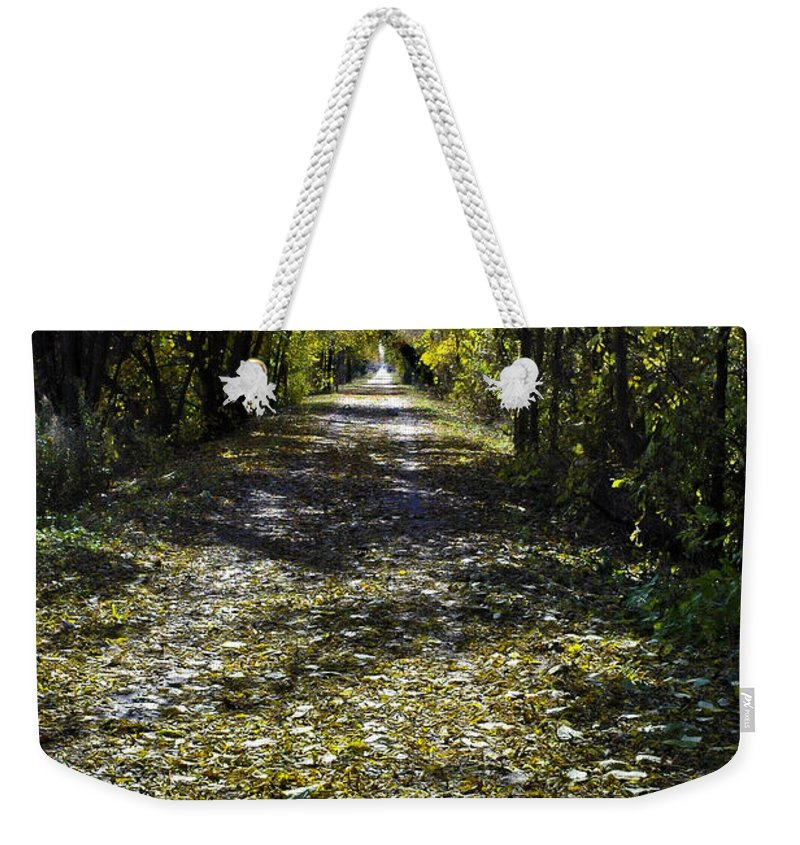 Fall Weekender Tote Bag featuring the photograph Fall On Macomb Orchard Trail by LeeAnn McLaneGoetz McLaneGoetzStudioLLCcom