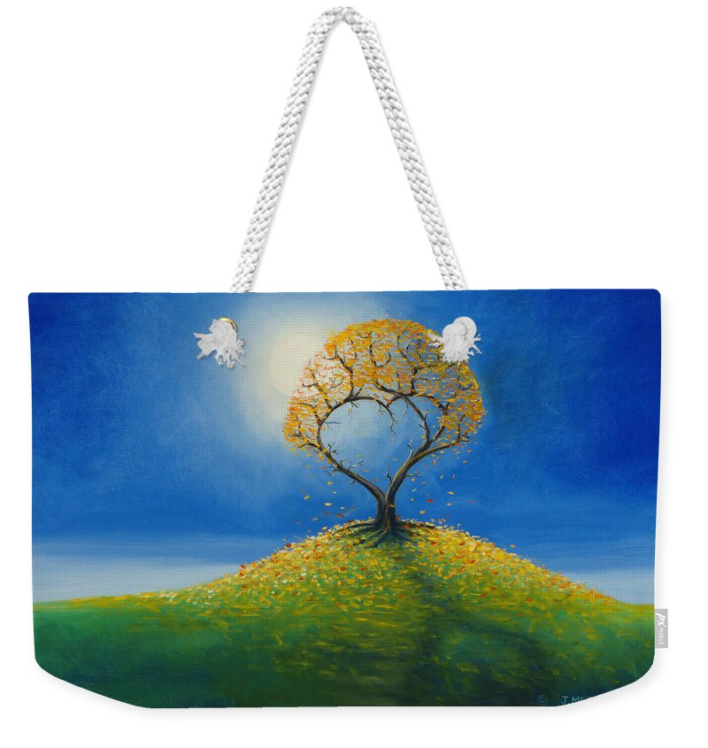 Love Weekender Tote Bag featuring the painting Falling For You 2 by Jerry McElroy