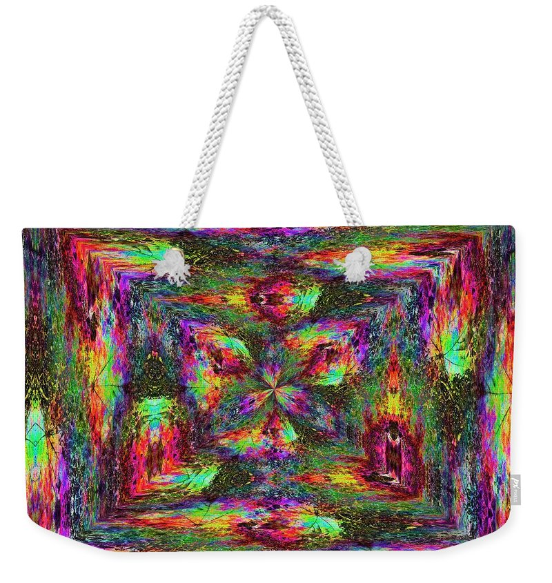 Abstract Weekender Tote Bag featuring the digital art Falling Into Fall by Tim Allen