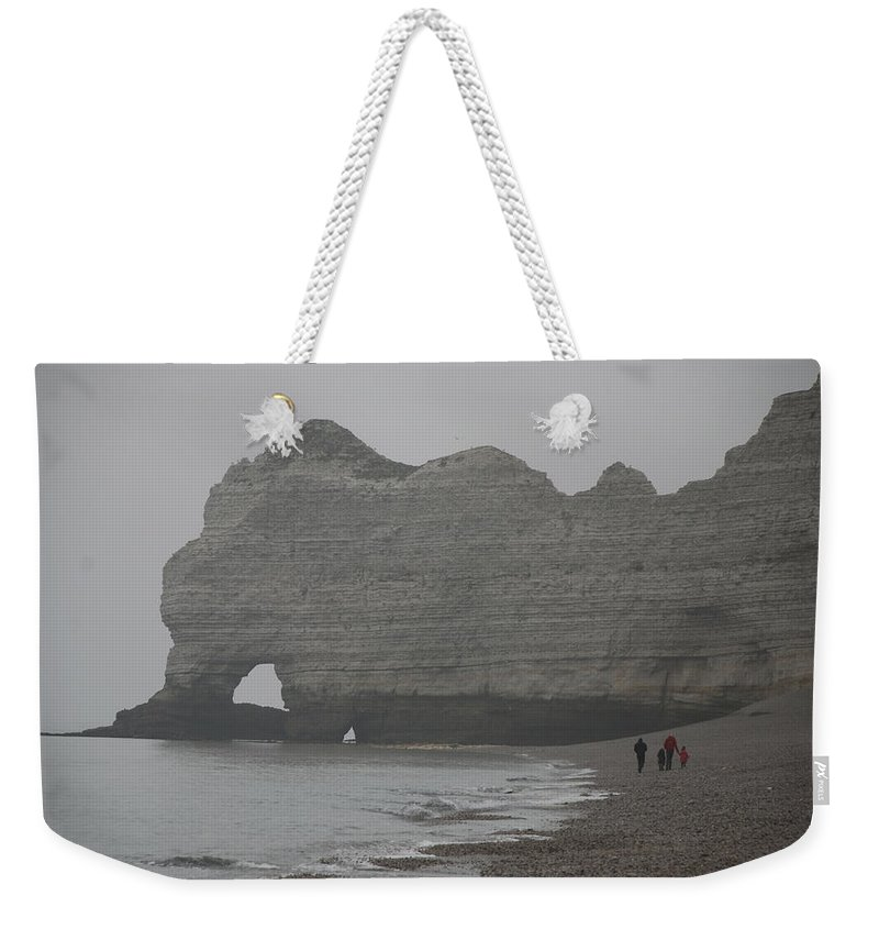 Etretat Weekender Tote Bag featuring the photograph Family At Etretat by Eric Tressler