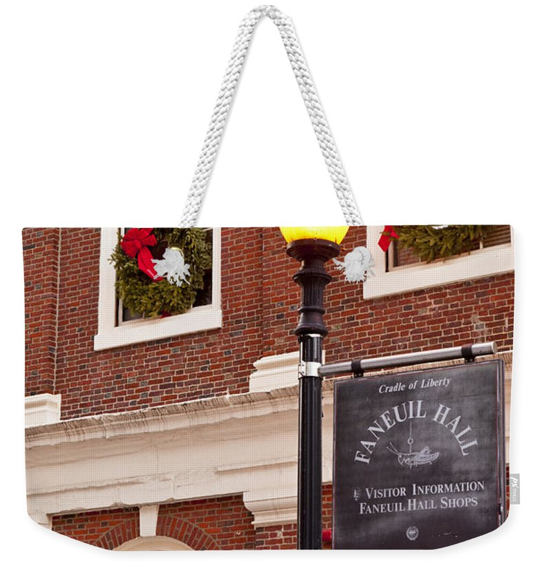 Faneuil Weekender Tote Bag featuring the photograph Faneuil Hall by Brian Jannsen