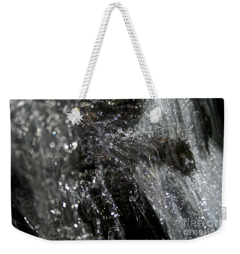 Rock Weekender Tote Bag featuring the photograph Fast Water by Susan Herber