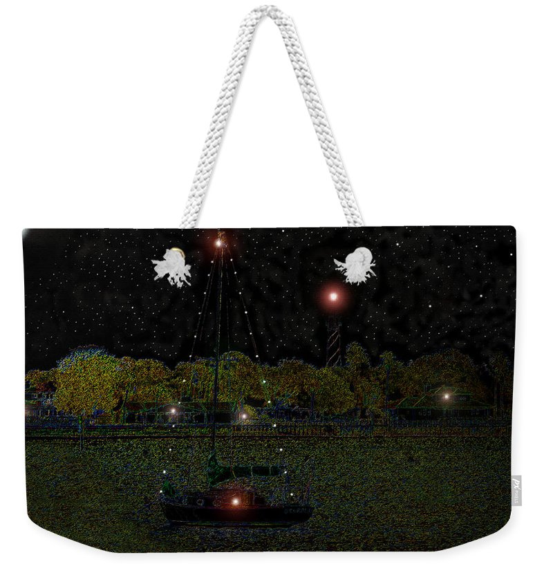 Art Weekender Tote Bag featuring the painting Fat Moon Bay by David Lee Thompson