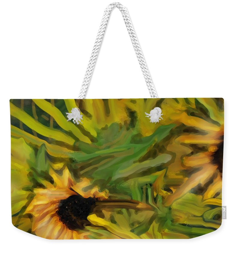 Sunflowers Weekender Tote Bag featuring the digital art Fauna by Ian MacDonald