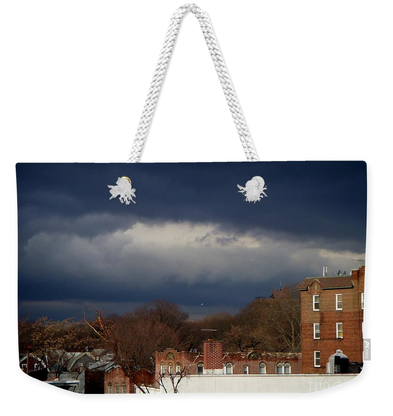 Clouds Weekender Tote Bag featuring the photograph February 8 2011 by Mark Gilman