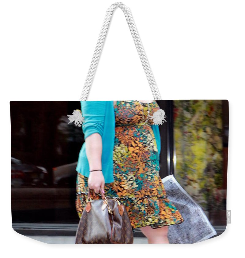 Lady Weekender Tote Bag featuring the photograph Feelin' Good by Deborah Crew-Johnson