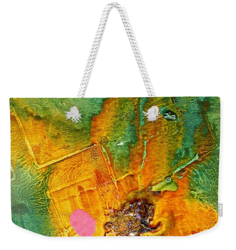 Acrylic Weekender Tote Bag featuring the painting Feeling Flushed by Angela L Walker