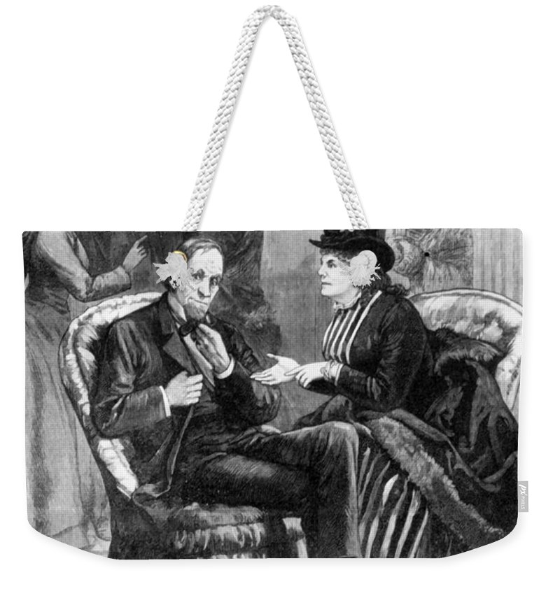 1888 Weekender Tote Bag featuring the photograph Female Lobbyists, 1888 by Granger