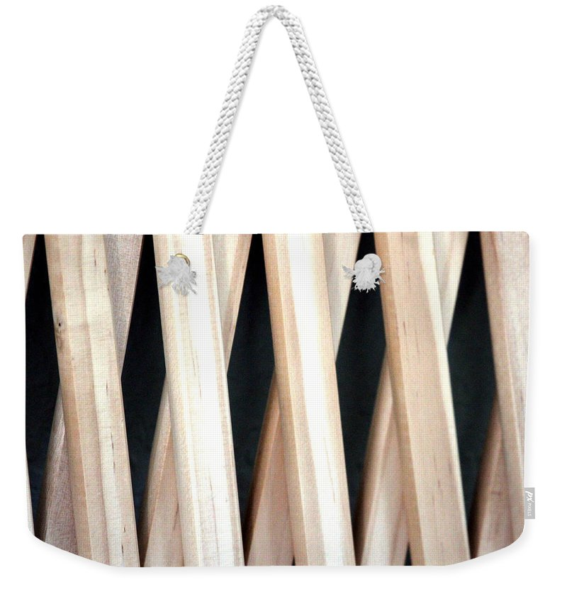 Illusion Weekender Tote Bag featuring the photograph Fence by Marie Jamieson