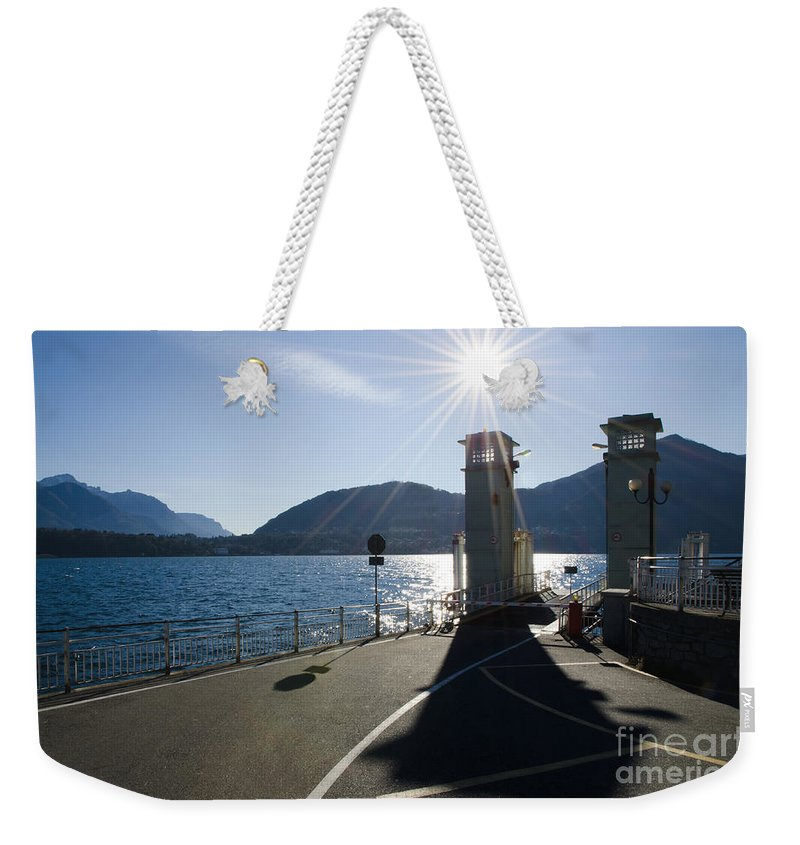 Ferry Port Weekender Tote Bag featuring the photograph Ferry Harbour by Mats Silvan