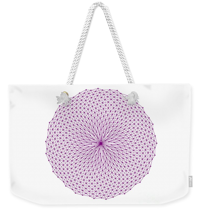 Fibonacci Weekender Tote Bag featuring the photograph Fibonacci Figure Showing Purple Reticulation And Small Purple Elements by Marcus West