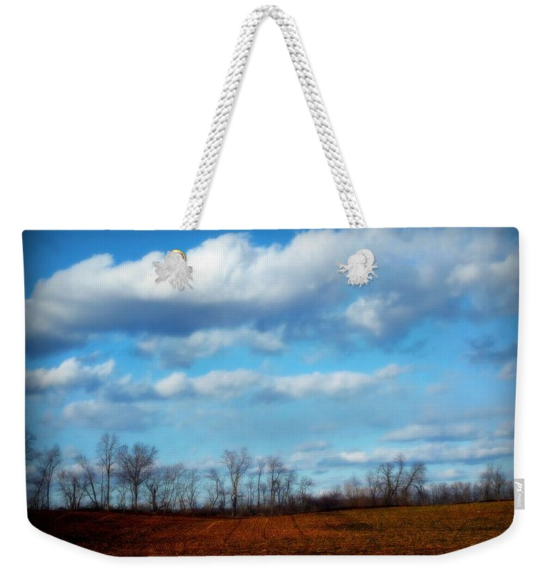 Trees Weekender Tote Bag featuring the photograph Fields Of Yellow by Michele Nelson