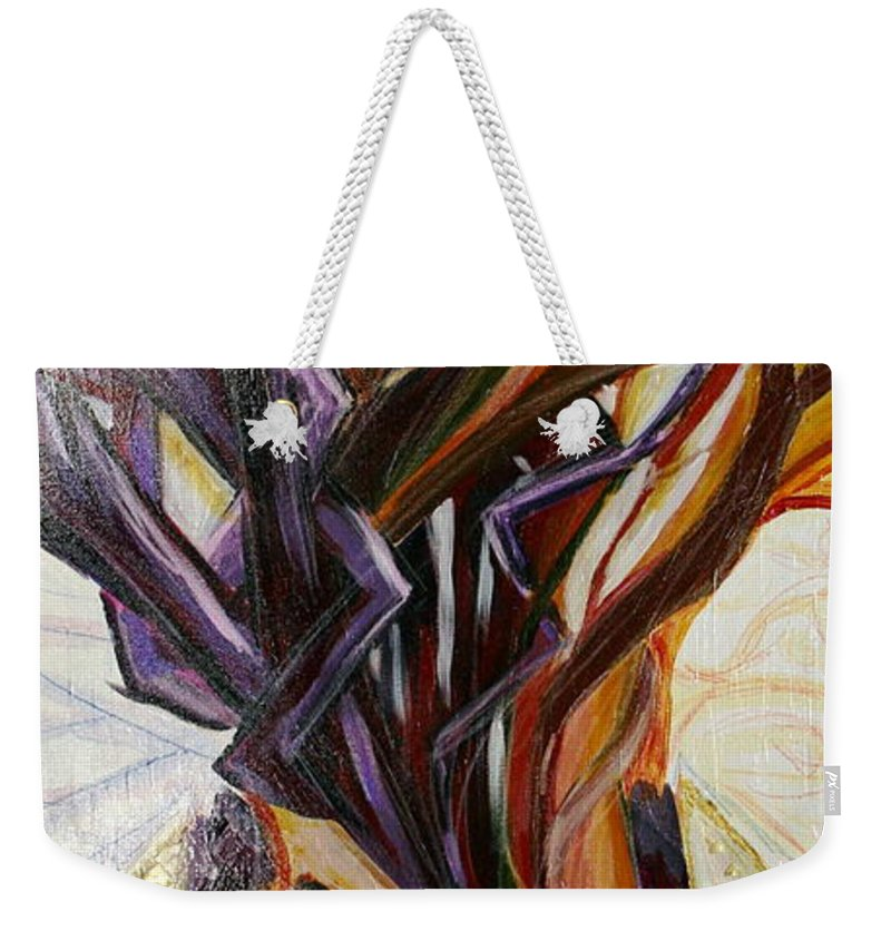 Apple Weekender Tote Bag featuring the painting Fifth World Three by Kate Fortin