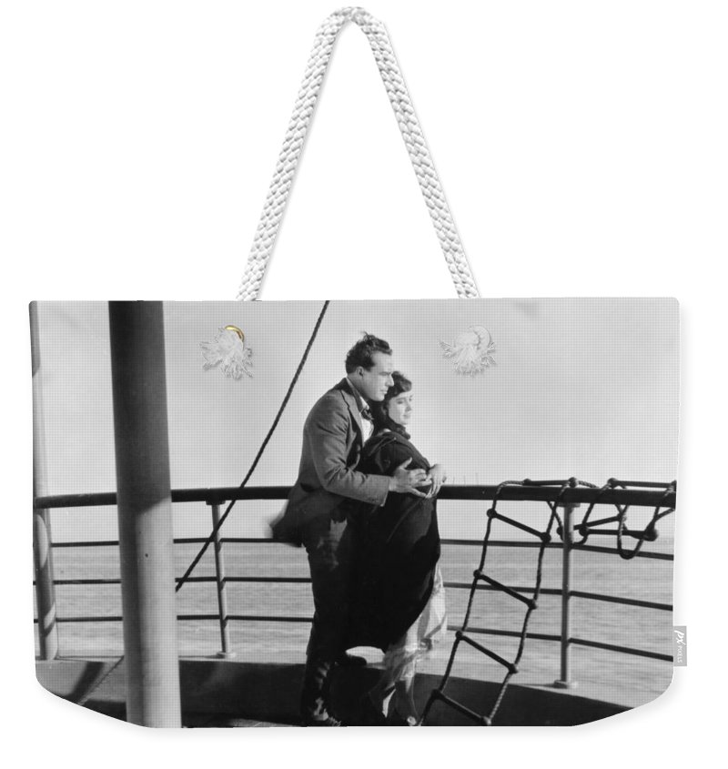 -transportation: Ships- Weekender Tote Bag featuring the photograph Film: Lying Lips, 1921 by Granger