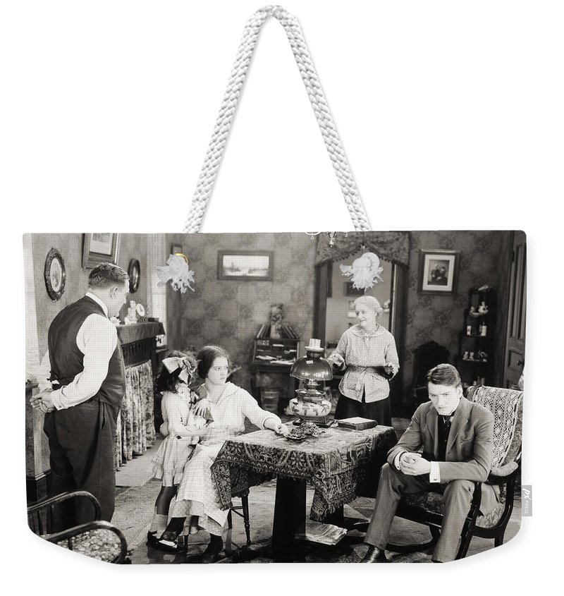 -family Groups- Weekender Tote Bag featuring the photograph Film Still: Poorhouse by Granger