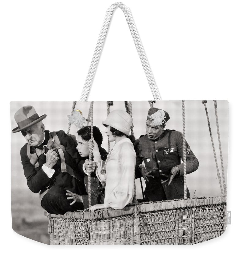-transportation: Misc- Weekender Tote Bag featuring the photograph Film Still: Rookies, 1927 by Granger
