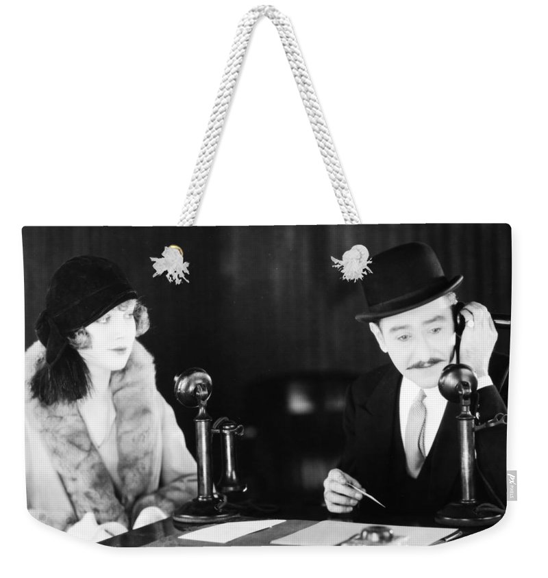 -telephones- Weekender Tote Bag featuring the photograph Film Still: Telephones by Granger