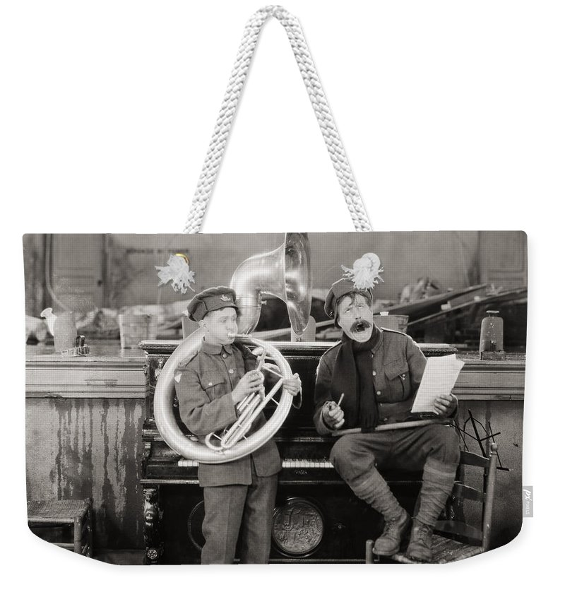 -music- Weekender Tote Bag featuring the photograph Film: The Better Ole, 1926 by Granger