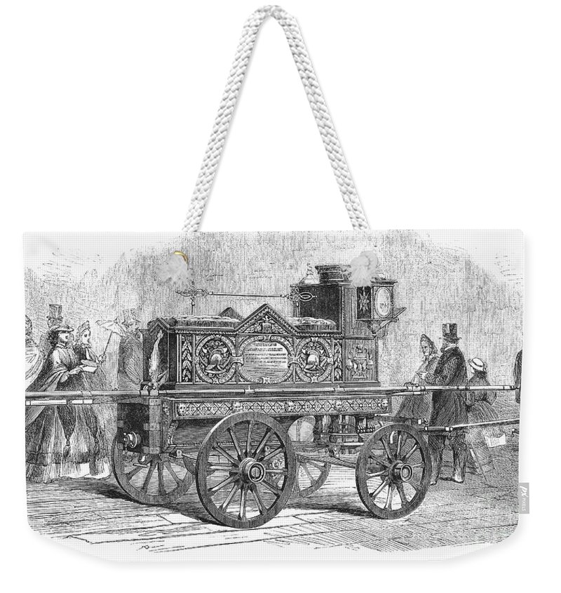 1862 Weekender Tote Bag featuring the photograph Fire Engine, 1862 by Granger