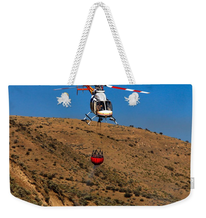 Helitack Weekender Tote Bag featuring the photograph Fire Fighting by Robert Bales