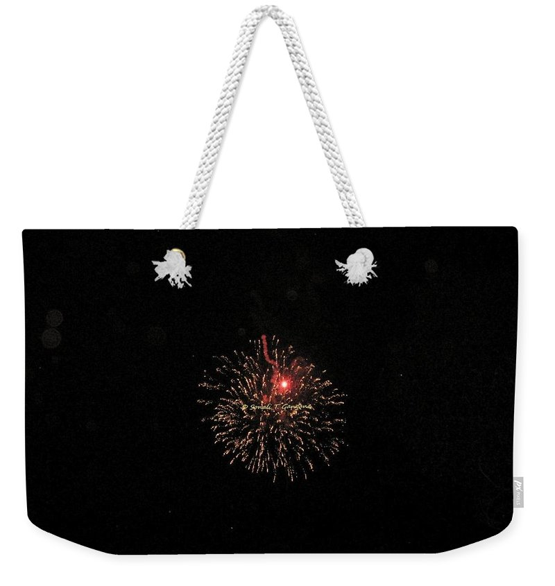 Fireworks Weekender Tote Bag featuring the photograph Fire Rangoli by Sonali Gangane