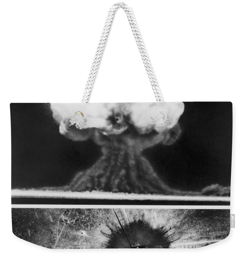 1945 Weekender Tote Bag featuring the photograph First Atomic Bomb, 1945 by Granger