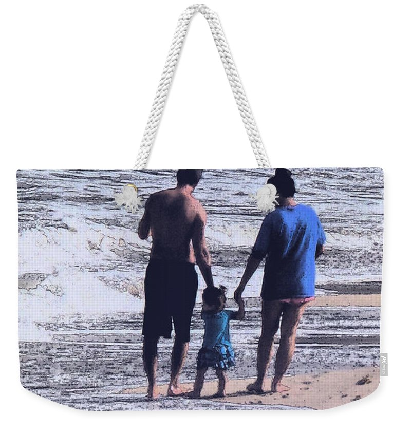 Beach Weekender Tote Bag featuring the photograph First Born by Ian MacDonald