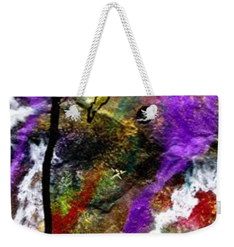 Acrylic Weekender Tote Bag featuring the painting First Date by Angela L Walker