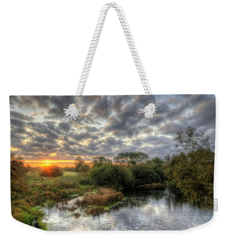 Hdr Weekender Tote Bag featuring the photograph Fisherman Down Below by Yhun Suarez