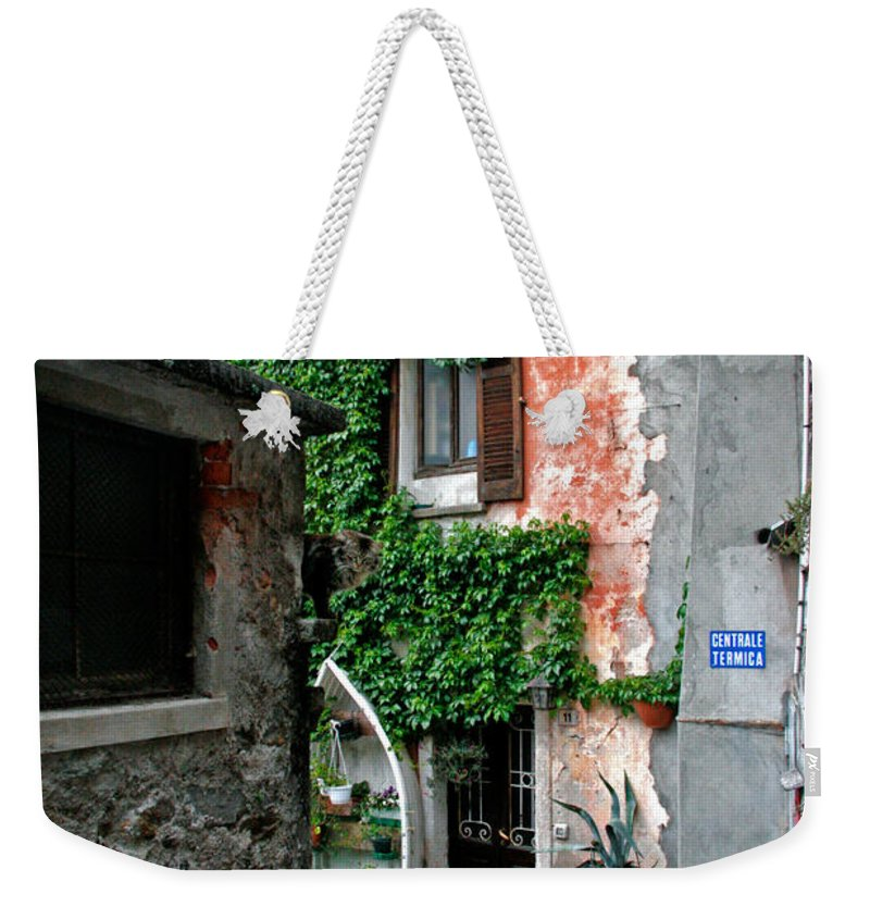 Architecture Weekender Tote Bag featuring the photograph Fisherman's Isle Italy by Peter Tellone