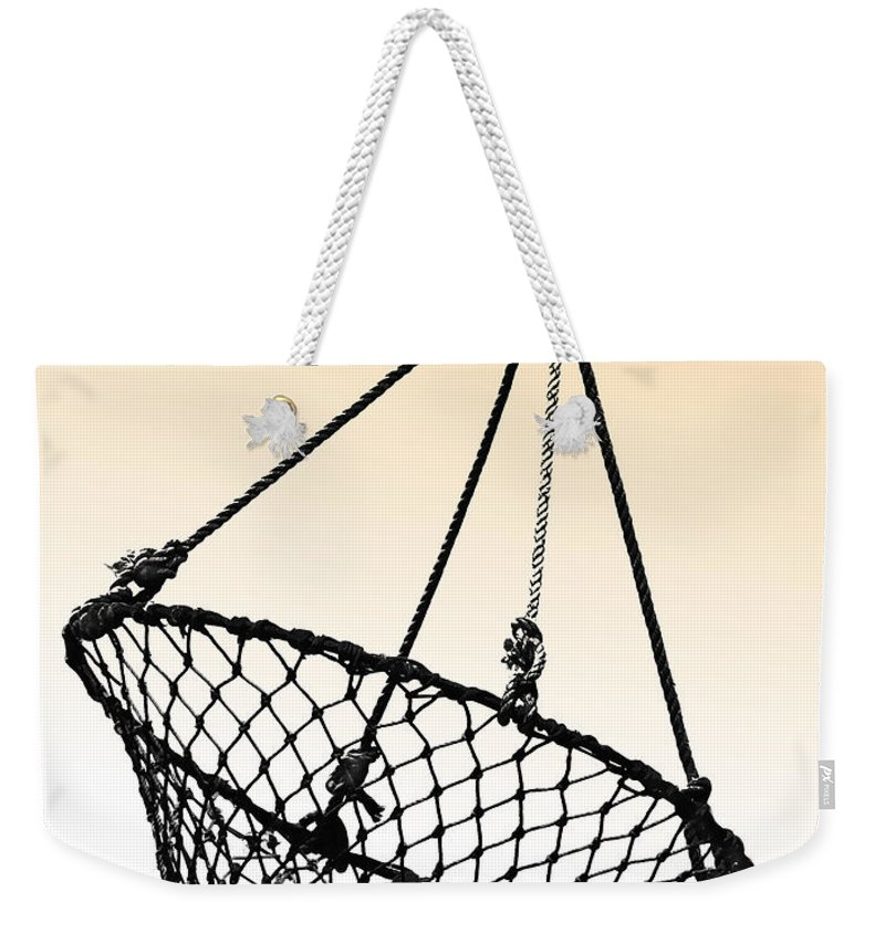 Fishing Net Weekender Tote Bag featuring the photograph Fishing Net by Dave Mills
