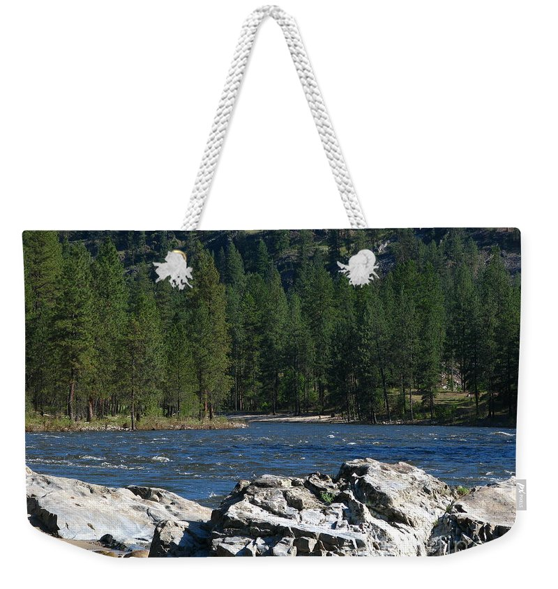 Art For The Wall...patzer Photography Weekender Tote Bag featuring the photograph Fishing Spot by Greg Patzer