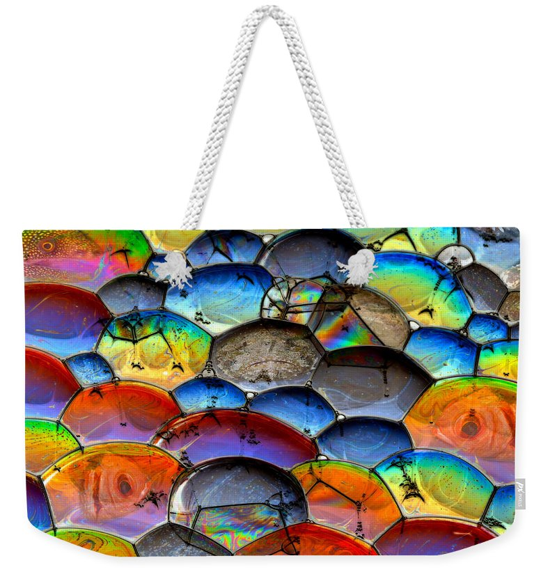Bubbles Weekender Tote Bag featuring the photograph Fishy Bubbles by Jean Noren