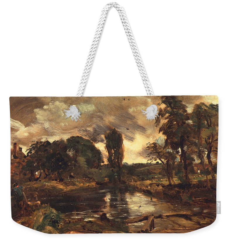 River Stour Weekender Tote Bag featuring the painting Flatford Mill From The Lock by John Constable