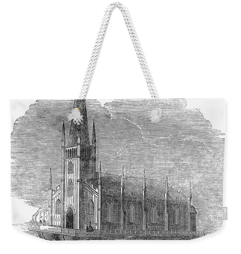 1849 Weekender Tote Bag featuring the photograph Floating Church, 1849 by Granger