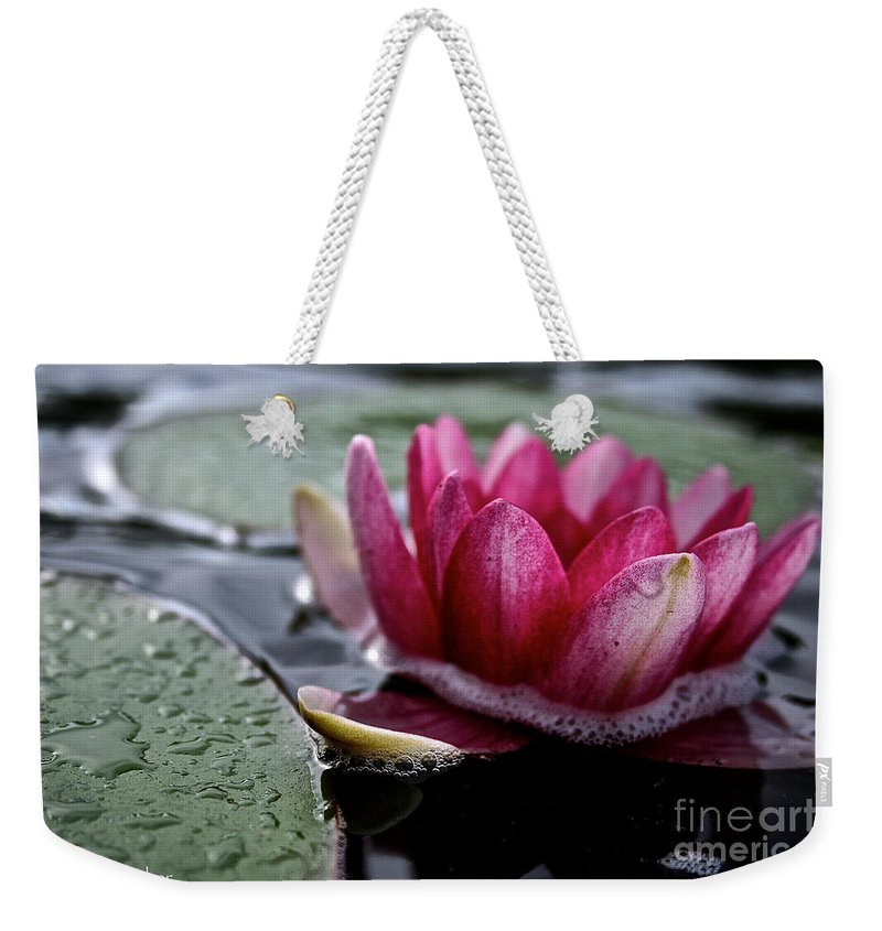 Floral Weekender Tote Bag featuring the photograph Floating Floral by Susan Herber