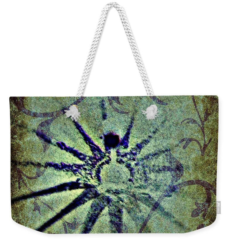 Digital Abstract Weekender Tote Bag featuring the digital art Floral Abstract by Leslie Revels